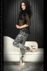 CHILIROSE: leggings fantasia animalier blu/nero.