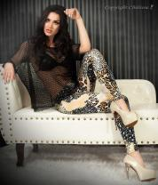 Leggings fantasia animalier beige/nero.
