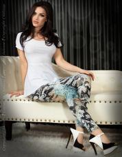 CHILIROSE: leggings pitonati blu/nero.