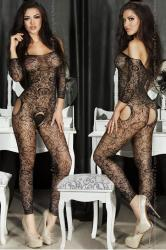 CHILIROSE: embroidery catsuit without feet.