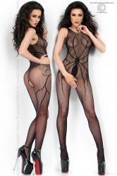 CHILIROSE: net catsuit with spider design.
