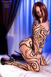 CHILIROSE: bodystocking velato color pelle.