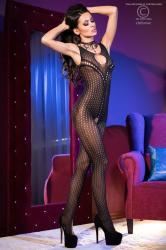 CHILIROSE: bodystocking aperto con piccole asolature.